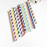 Best Quality - Disposable Party Tableware - mixed style pack 25pcs party paper drinking straw wedding baby shower anniversary festive birthday...