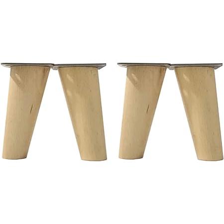 Pack de 4 patas para muebles,12cmts de altura de haya para ...