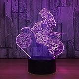 Lampada da tavolo per moto da cross country con luci notturne a LED a luce notturna 3D