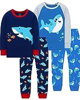 Boys Christmas Sharks Pajamas Baby Kids School PJs Cute Girls Jammies Clothing Set Size 6
