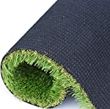 RoundLove Artificial Turf Lawn Fake Grass Indoor Outdoor Landscape Pet Dog Area (19.7x23.7in)