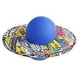 Pelota para saltar con graffiti redonda, pelota de gimnasia, pelota de rebote para niños, pelota de fitness a prueba de explosiones, juguete de equilibrio, tabla de equilibrio para adultos, color azul