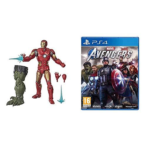 MARVEL LEGENDS Videogioco Avengers IRON MAN + Marvel's Avengers PS4