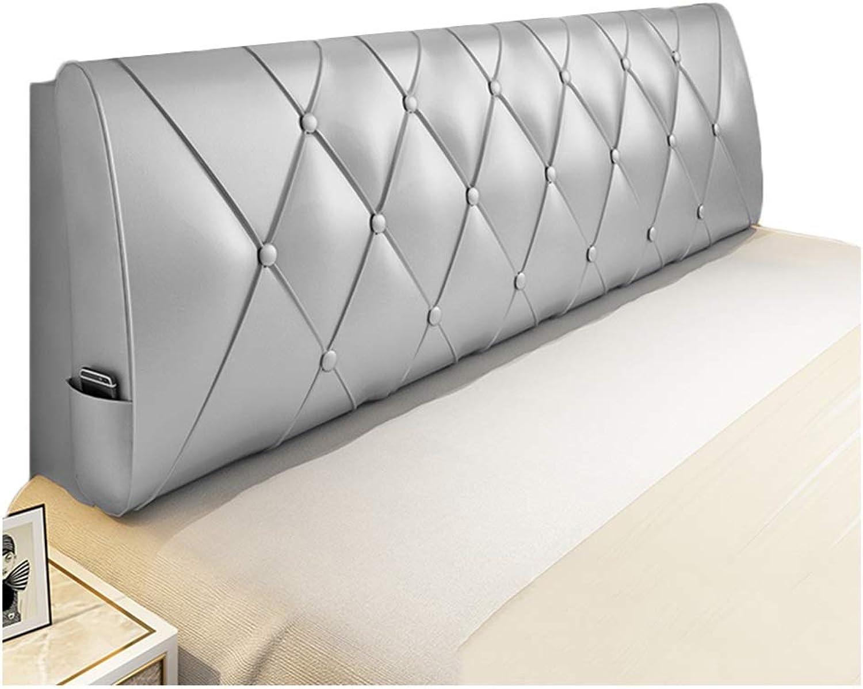 WENZHE Upholstered Fabric Upholstered Headboard Pillow Bedside Cushion Wedges Backrest Waist Pad PU Soft Case Bedside Backrest Home Bedroom Waist Pad, 6 colors (color   B, Size   90x60x10cm)