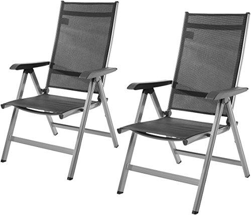 Amazon Basics - Silla para exteriores ajustable en 5 posiciones, Juego de 2