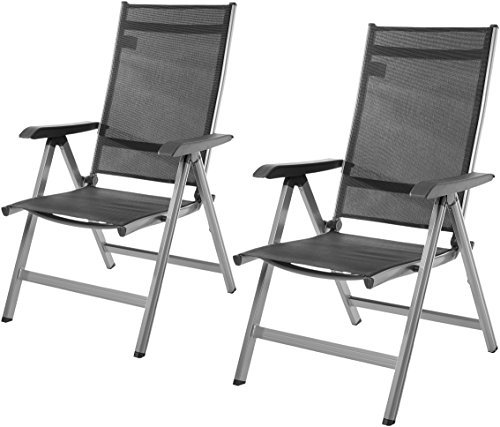 AmazonBasics 5-Position Adjustable Outdoor Chair, Set of 2