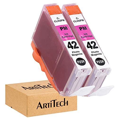 ArtiTech CLI-42 PM Pixma Pro-100 Compatible Ink Cartridges Replacement for Canon CLI42 CLI-42 Photo Magenta Ink Cartridge Work for Pixma Pro-100S Printers,2 Pack CLI-42 PM