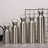Mdsfe 500 / 1000ml Botella de Agua fría y Caliente de Acero Inoxidable Aislamiento al vacío para niñas Botella térmica de 24 Horas Frasco hidráulico para Viajes Deportivos - 350 ml, Rosa