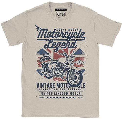 6TN Hombre Moto Legend Camiseta - Arena, Medium