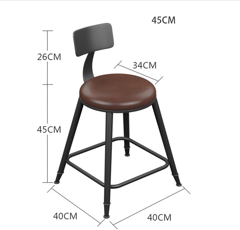 Bar Stool Iron Retro Size Optional High Stool Bar (Size   45CM)