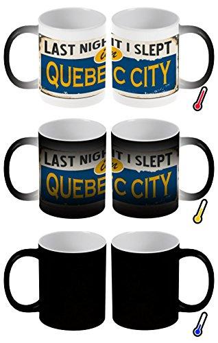 LEotiE SINCE 2004 Zaubertasse Farbwechseltasse Kaffeebecher Tasse Becher Latte Cappuccino Espresso Stadt Québec Kanada