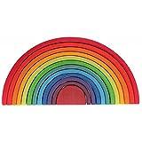 グリムGRIMM'S 玩具 おもちゃ 知育玩具 積み木 インテリア 見立て遊び 虹 レインボー 高さ18×幅38×奥行7cm 虹色トンネル 特大