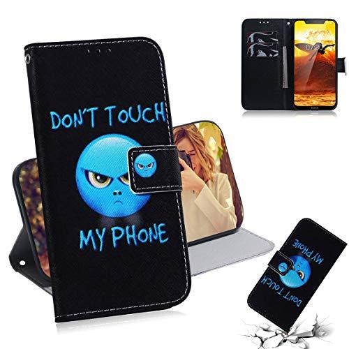 SATURCASE Nokia 8.1 Hülle, Einzigartig PU Lederhülle Ledertasche Magnetverschluss Flip Brieftasche Kartenfächer Standfunktion Handy Tasche Schutzhülle Handyhülle Hülle für Nokia 8.1 (TX-5)