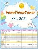 XXL Familienplaner 2021. Hochwertiger und übersichtlicher Familienkalender 2021 mit 6 Spalten.Familienkalender mit Ferienterminen, Vorschau für 2022. Format: 22x28 cm