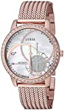 GUESS Women's Stainless Steel Connect Fitness Tracker Watch, Color: Rose...