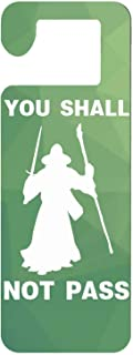 Mr kennys& Lucky 7 You Shall Not Pass-1 Durable Wooden Door Knob Hanger Sign for Home,Hotel,Office, Clinic, Therapy Warning Room Sign