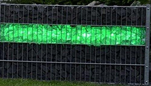 LED Beleuchtung für Zäune und Gabionen ~ 45cm mit 360° Abstrahlwinkel! 230V grün