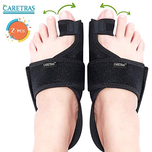 Caretras Bunion Corrector, Orthopedic Bunion Splint, Big Toe Separator Pain Relief, Non-Surgical Hallux Valgus Correction, Hammer Toe Straightener, Day Night Support