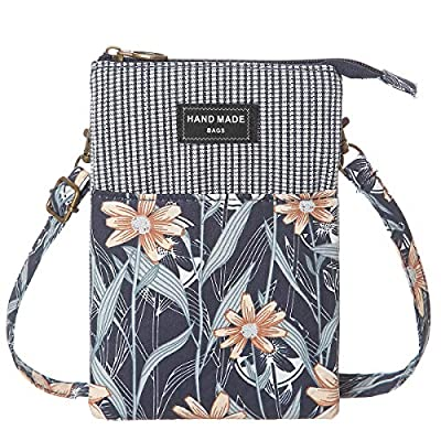 Cell Phone Purse Wallet Lace Canvas Small Crossbody Bags For Women