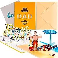 2枚 3D ポップアップ 父の日カード 父の日 誕生日カード ハッピー感謝 親 家族 感謝祭 ペーパーカード 記念日のプレゼント お祝い用