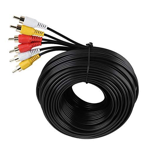 Cable de video, Cable de cable RCA, Cable para DVD, DVD y TV(15 meters)