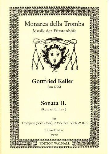 Sonata II in D für Trompete (Oboe), 2 Violinen, Viola und B.C. (Partitur und Stimmen)
