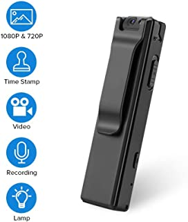BOBLOV 1080P Mini Body Cameras with Audio Wearable Video Recorder Back Clip Easy to Operate for Teaching/Tour/Lecture/Interview/Baby Monitor Record (Without Card)