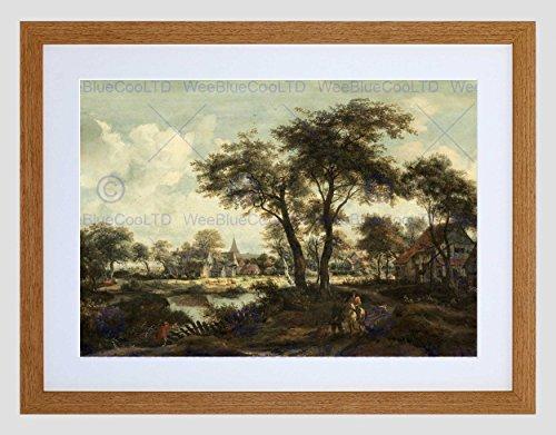 Wee Blue Coo Meindert Hobbema Nederlands Dorp Zwembad Beeld Omlijst Muur Art Print