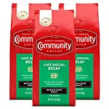 Community Coffee Café Special Decaf Medium Dark Roast Premium Ground 12 Oz Bag (3 Pack), Full Body Rich Flavorful Taste, 100% Select Arabica Coffee Beans