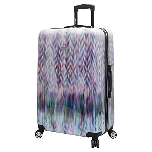 Steve Madden Luggage Collection - 24 Inch Scratch Resistant (ABS+PC) Hardside Mid-sized Suitcase - Durable Lightweight Bag with 8-Rolling Spinner Wheels (Diamond)
