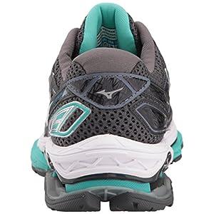Mizuno Women's Wave Creation 19 Running Shoe, Magnet/Silver, 8