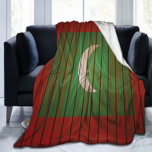 Grunge Malediven Flagge Flanelldecke flauschig gemütlich warm leicht weich Überwurf Decken Sofa Couch Schlafzimmer Decke