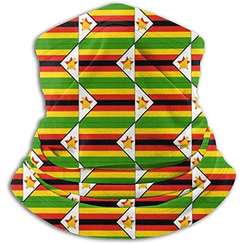 Gjiesh Originalidad Bandera de Zimbabwe Calentador de cuello Polaina Diadema Máscara facial Bandana Pañuelo de cabeza Bufanda Sombreros Pasamontañas Esquí Running Motocicleta