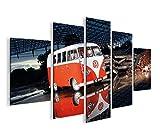 islandburner Bild Bilder auf Leinwand Bulli Bus V3 MF XXL