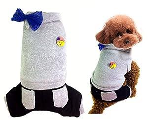 Chat couche en polaire pour chien Combinaison Manteau D'Hiver Pour Femme Pull à capuche pour petit chien vêtements XS S M L XL