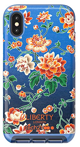 tech21 Evo Luxe Apple iPhone X and XS Liberty London Phone Case with 12 ft Drop Protection - Grace, Teal (T21-6424)