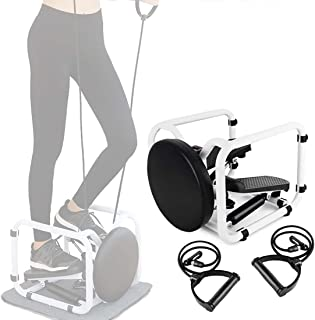 Scizor Fitness Stair Steppers for Exercise, Mini Stepper with 360 ° Rotatable Twist Waist Stool, Household Gym Hydraulic S...