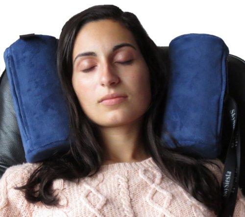 SkySiesta Recliner Pillow - Foam Head Supports - Blue
