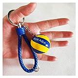 Xcwsmdq Porte-clés pour Amant Mini Volleyball Keychain Sport Football Porte-clés de Voiture Balle ou Ballon Basket-Cadeau Porte-clés Rugby Football Anneau Porte-clés Cadeau d'anniversaire Decade
