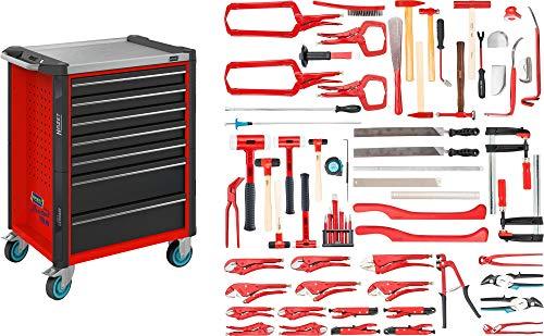 HAZET Werkstattwagen mit Sortiment (Assistent für Alu-Karosserien mit Edelstahlarbeitsplatte, inkl....
