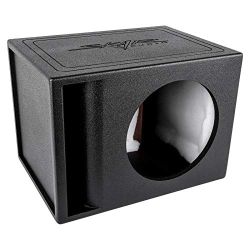 Skar Audio AR1X12V Single 12' Universal Fit Armor Coated Ported Subwoofer Box with Kerf Port