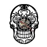 Reloj de Pared de Vinilo con Calavera Mexicana Reloj de Pared con Cabeza de Calavera Diseño Moderno...