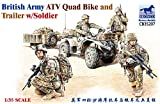 Bronco Models Maquette Véhicule British Army ATV Quad Bike and Trailer W/Soldier