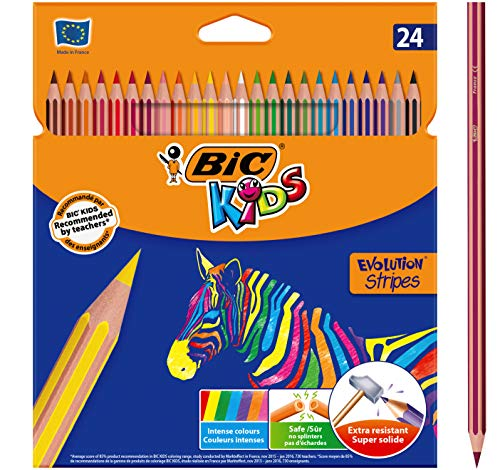 BIC Kids Evolution Stripes Lápices de colores - colores Sur