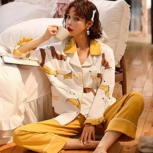 Wenhua Nightshirt Women Sleepwear, Autumn and winter cotton sweet and cute ladies pajamas,-A33160-L, Cosy & Soft Ladies Pyjamas Loungewear Nightwear