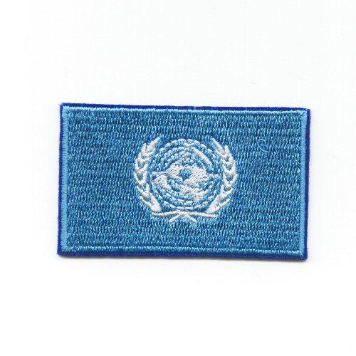 UNO Vereinte Nationen VN United Nations UN Flag Patch Aufnäher Aufbügler K-42