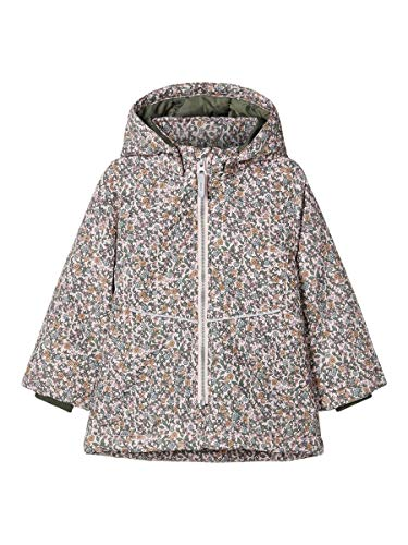 NAME IT NMFMAXI Jacket Small Flower Chaqueta acolchada, Peachskin, 98 cm para Niñas