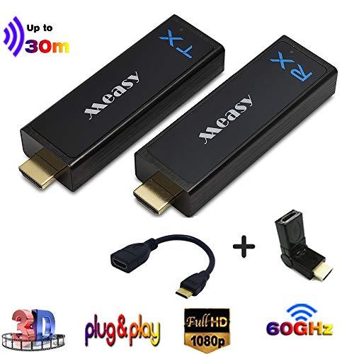 Measy W2H Nano Wireless HDMI Extender / Sender und Empfänger bis zu 30m / 100ft Unterstützung 60 GHz konkurrenzfähig mit 3D