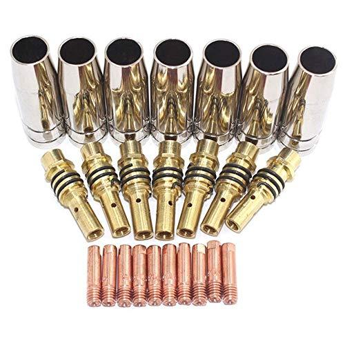Juego de 24 boquillas de 15 AK, puntas de contacto, soporte MIG/MAG, material y...
