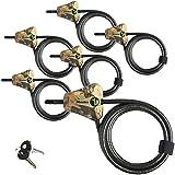 Bloqueios de cabo de camuflagem ajustável para câmera Master Lock Python Trail 8418KA-6 CAMO 6-Pack